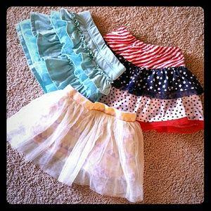 Other - Set of 3 girl skirts 3t Bundle lot